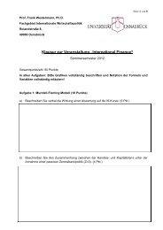 Klausur SS 12 - Internationale Wirtschaftspolitik