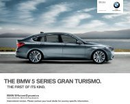 THE BMW  SERIES GRAN TURISMO.
