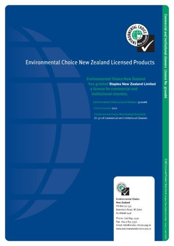 Chemical Solutions Staples Green Earth - Environmental Choice ...