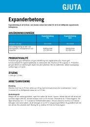 Expanderbetong - Finja
