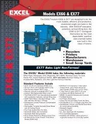 models EX66 & EX77 - Excel Manufacturing