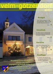 Ausgabe 2 -  Velm-Götzendorf