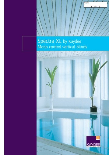 Spectra XL: Mono Control Vertical Blinds - Barbour Product Search