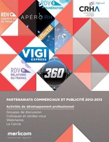 Partenariats commerciaux et Publicité 2012-2013 - Portail de l'Ordre ...