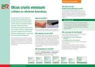 Ulcus cruris venosum Lokales Therapieschema