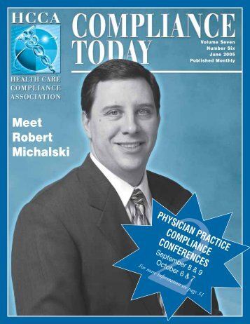 Meet Robert Michalski - Health Care Compliance Association