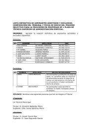 lista definitiva de aspirantes admitidos y excluidos ... - Villajoyosa