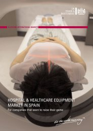 hospital & healthcare equipment market in spain - Association of ...