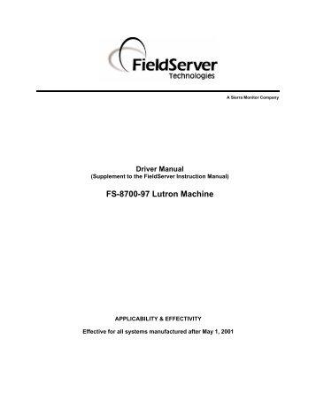 FS-8700-97 Lutron Machine - Chipkin Automation Systems