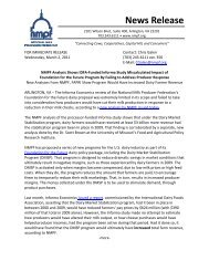 News Release - National Milk Producers Federation