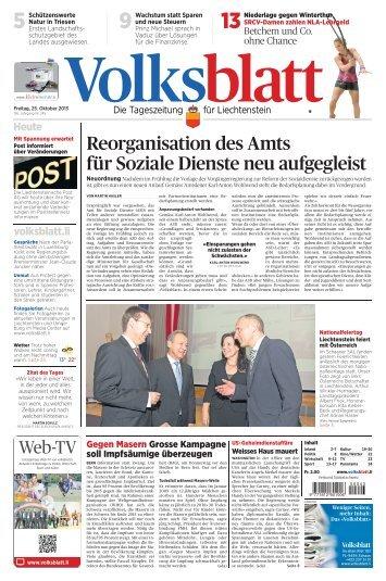 Liechtensteiner Volksblatt, 25. Oktober 2013