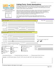 2013-2014 Event Nomination Form - Santa Cruz