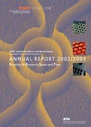 FIRST Annual Report 2003 - FIRST - ETH Zürich