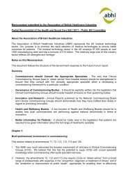 ABHI Submission to the reconvened Health and Social Care Bill ...