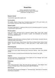 Detailed Curriculum Vitae - DFG