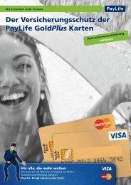 Der Versicherungsschutz der PayLife GoldPlus Karten - Kreditkarte.at