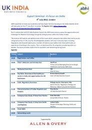 Export Seminar: A Focus on India - Association of British Healthcare ...