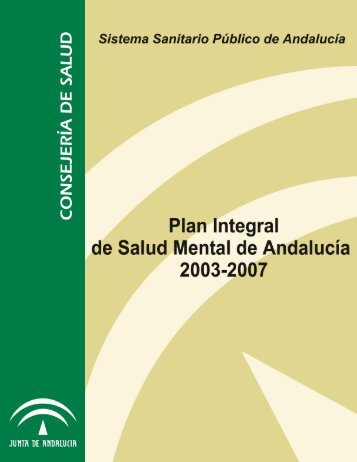 DESCARGA EL I PLAN INTEGRAL DE SALUD MENTAL DE ...