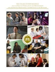 2007-2008 Faculty Publications and Presentations - College of New ...
