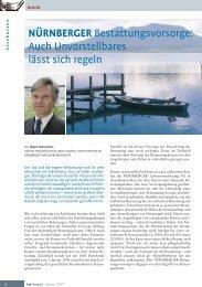 NÜRNBERGER Bestattungsvorsorge - Bundesverband Deutscher ...