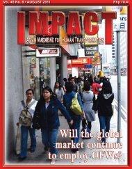 Php 70.00 Vol. 45 No. 8 • AUGUST 2011 - IMPACT Magazine Online!