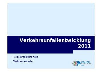 Verkehrsunfallentwicklung 2011 - Velo2010