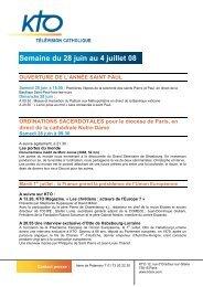 Semaine du 28 juin au 4 juillet 2008 - Kto