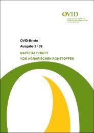 Nachhaltigkeit für einen effektiven und wirkungsvollen ... - OVID