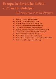 Evropa in slovenske dežele v 17. in 18. stoletju: luč razuma ... - Praktik