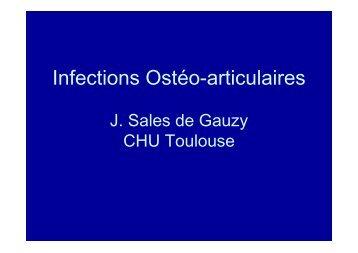 Infections Ostéo-articulaires – J Sales de Gauzy - SOFOP
