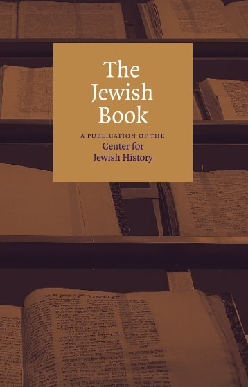 Download the Jewish Book (pdf) - Center for Jewish History