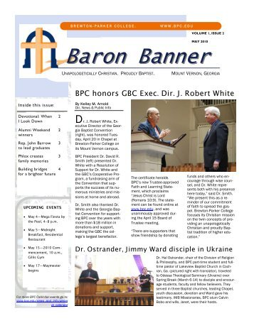Baron Banner May 10 - Brewton-Parker College