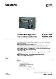 C205 Ekvitermní regulátor alternativních soustav ... - M Elektronika