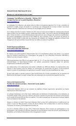 Liste des projets finalistes - Secrétariat à la condition féminine Québec