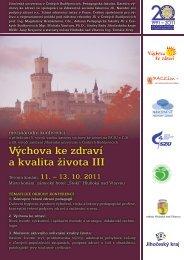 POZVÁNKA včetně programu konference - Pedagogická fakulta ...