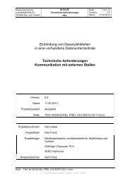 Technische Anforderungen Kommunikation mit externen ... - NERZ eV