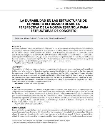 la durabilidad en las estructuras de concreto reforzado desde la ...