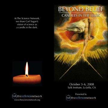 BEYOND BELIEF BEYOND BELIEF - The Science Network