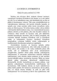 LUCIFER JA ANTIKRISTUS - Pekka Ervast