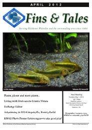 April 2012 - Kitchener Waterloo Aquarium Society