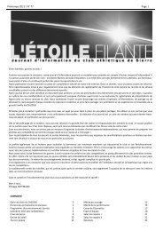 Printemps 2013 / N° 77 Page 1 - Club Athlétique de Sierre