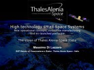 The Vision of Thales Alenia Space