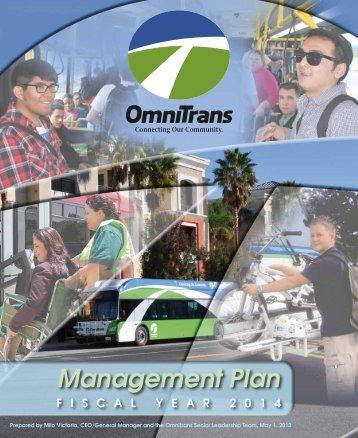 Item F2 - FY2014 Management Plan - Omnitrans