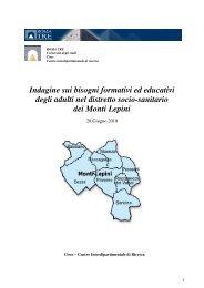Rapporto finale della ricerca sui bisogni formativi ed educativi degli ...