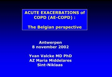 ACUTE EXACERBATIONS of COPD (AE-COPD) : The Belgian ...