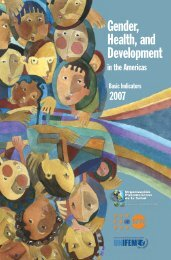 Gender, Health, and Development - PAHO/WHO