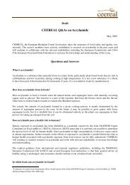 Question and Answers on Acrylamide. - Ceereal
