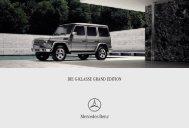DIE G-KLASSE GRAND EDITION - Mercedes Benz