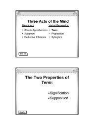 Traditional Logic I Chapter III - Memoria Press