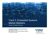Track 3: Embedded Systems Market Statistics - VDC Research